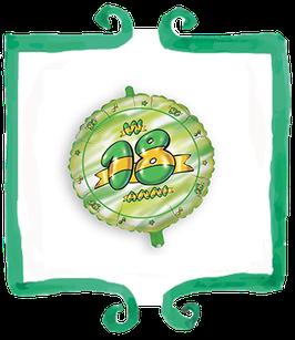 Palloncino 18 anni Verde