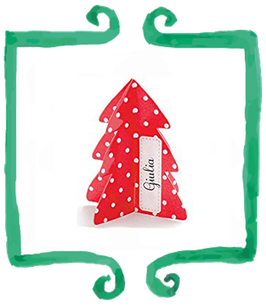 Segnaposto natalizio in carta a forma di albero - 6 pezzi