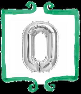 palloncino Numero 0 grande - 100 cm