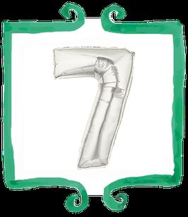 Palloncino Numero 7 grande - 100 cm
