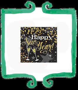 Tovaglioli capodanno Happy New Year! - 16 pezzi