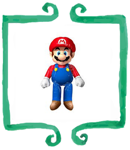 Palloncino Airwalker Super Mario - 91 x 152 cm