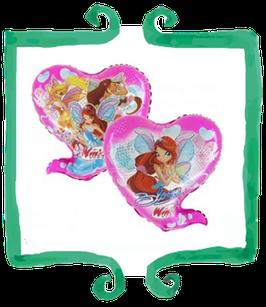 """Palloncino Mylar Winx a forma di cuore 26""""/66cm"""