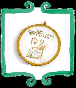 """Palloncino mylar La Mia Cresima - 17"""" (45 cm)"""