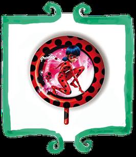 """Palloncino mylar Ladybug Miracoulous 18""""/45cm"""