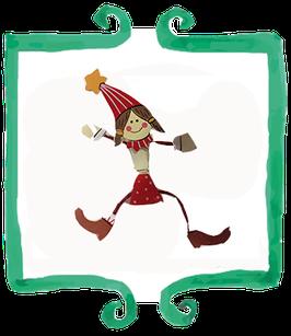 Mollettina segnaposto natalizia a forma di elfo - 1 pezzo