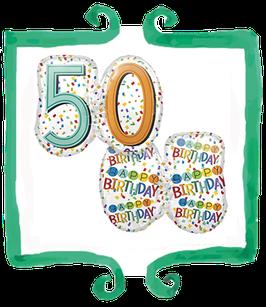Palloncino mylar 50 anni sagomato