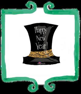 Palloncino Mylar Cappello Happy New Year! - 18 in (45 cm)