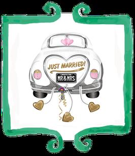 Palloncino  Macchina Just Married - SuperShape