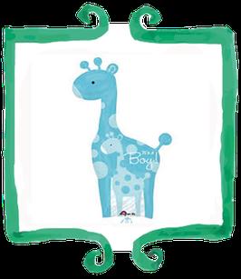 Palloncino Nascita Giraffa It's a Boy celeste