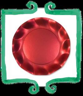 Piatto Piano Rosso - 10 pezzi