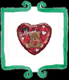 Palloncino Cuore Orsetto To my Girlfriend