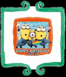 "Palloncino mylar Minions Happy Birthday 18""/45cm"