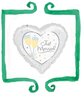 Palloncino Just Married Cuore