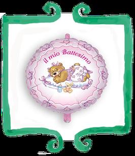 Palloncino Il mio Battesimo rosa