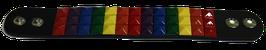 Leder Armband Regenbogen