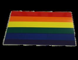 Regenbogen  flagge Aufkleber, Rechteck