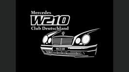 W210 Club Deutschland - Schriftzug (2 Stück)