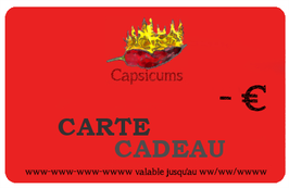 Carte Cadeau Capsicums
