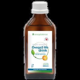 Ovega3 life drink mit DHA Algenöl Limone-Orange Geschmack