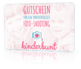 "Geschenkgutschein ""Kinderbunt-Fotoshooting"""