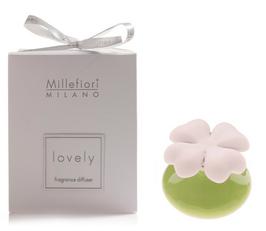 Millefiori Milano Lovely Angel Gift diffusore di fragranza quadrifoglio, Ceramica, Verde, 11.6 x 11.6 x 16.5 cm  IN SCATOLA BOMBONIERA