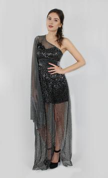 Kleid Schwarz Pailletten