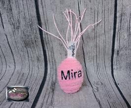 """1902 - personalisierter Cotton Egg """"M"""" """"ungefüllt/gefüllt"""""""