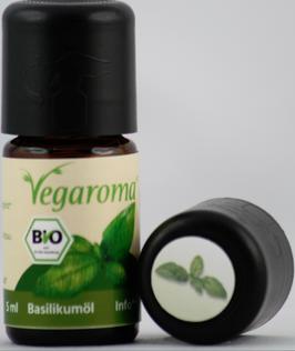 Basilikumöl* 10 % bio Vegaroma - vegan   5 ml