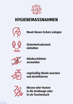 "KUNDENINFO ""Hygienemaßnahmen"""