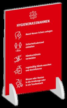 """AUFSTELLER """"Hygienemaßnahmen"""""""