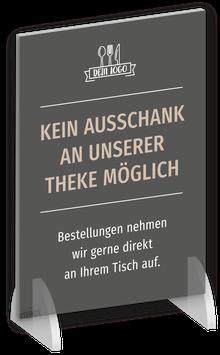 """INFO-AUFSTELLER """"Eingang & Barbetrieb"""""""
