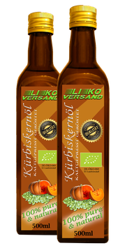 Kürbiskernöl bio kaltgepresst geröstet