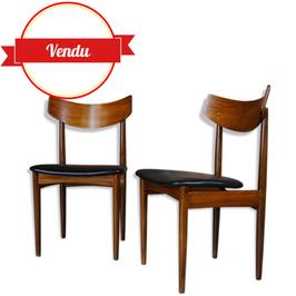 """Trio de chaises """" Samcom """" design années 50-60"""