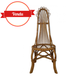 Chaise vintage en rotin Bohême
