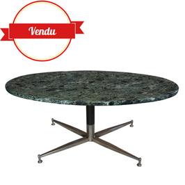 Table basse en marbre vert, 1960-70