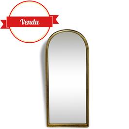 Grand miroir doré, ancien en arcade 95 cm