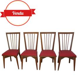Suite de 6 chaises années 50-60 en chêne
