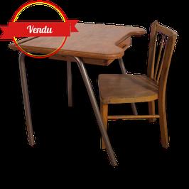 Bureau écolier et sa chaise Baumann