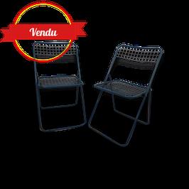 Paire de chaises en métal vintage