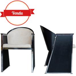 """Paire de fauteuils """"Mondi"""" design des années 80 par Jouko Jarvisalo pour Inno Interior OY"""