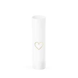 zylindrische Vase mit Herz