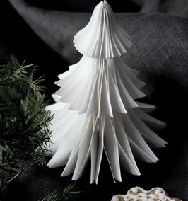 Weihnachtsbaum Papier weiß