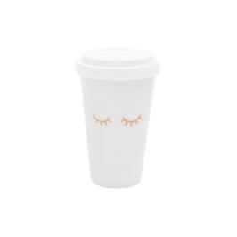 Coffee to go Müde Augen
