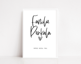 "Print ""Familienname"""
