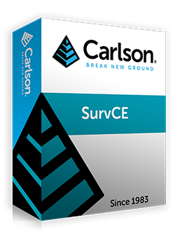 Carlson SurvCE (GNSS und mechanische Totalstation)