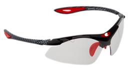 EXCAPE-EXCMATIC photochrome Sportbrille schwarz/rot/schwarz