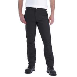 STRAIGHT FIT STRETCH DUCK DOUBLE FRONT       BLACK
