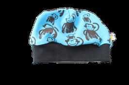 Mütze Affe blau