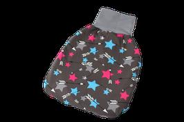 Pucksack Strampelsack Sterne Stars braun/bunt